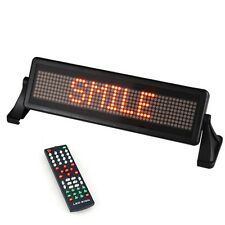 12V MINI LED CAR SCROLL MOVING MESSAGE DISPLAY SIGN LIGHT BOARD REMOTE CONTROL