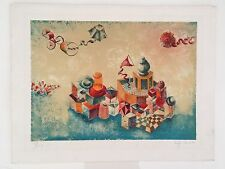 Israeli Artist Raffi Kaiser Limited Edition Lithograph. Signed. 111/150