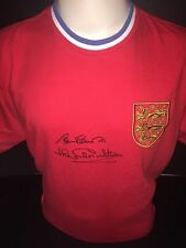 Signed England Retro 1966 Shirt By Bobby & Jack Charlton