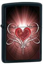 Zippo 28043 heart black matte RARE & DISCONTINUED Lighter