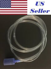 3Ft Clear Hose Pipe-Flexible Plastic Water Tubing 4mm ID Aquarium + Stone Bubble