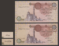 Egypt - 2000 - C.O. - Last Coded Date & First New Date - 1 EGP - P-50 - Sign #19
