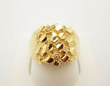 Men's 10K Yellow Gold Nugget Ring 3.8 g
