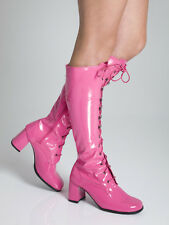 Pink Boots - Womens Cerise GoGo Knee High Lace up Boots - Size 5 UK - Seconds