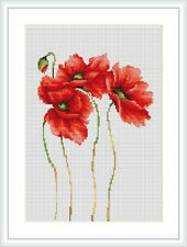 Cross stitch kit coquelicots luca-s