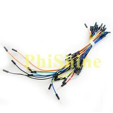 65pcs Male to Male Flexible Solderless Breadboard Jumper Cable Wires For Arduino