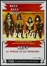 KISS - HIGH QUALITY EARLY VINTAGE 1978 CONCERT POSTER - LOOKS GREAT FRAMED