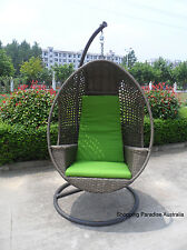 NEW Quality Hanging Swing Egg Chair Rattan In Outdoor Pod Basket with Armrest