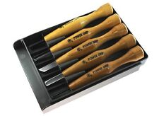 Mikisyo 5pcs Power Grip Wood Carving Tool Kit U V Gouge Chisel Set