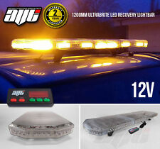 12v LED Light Bar Amber Strobe Beacon Recovery - 120cm 1200mm 1.2 Metre 48""