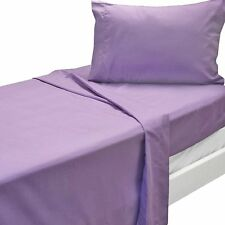 NEW 3pc Purple Twin XL Bed Sheet Set Solid Color Bedding Accessories B2#555