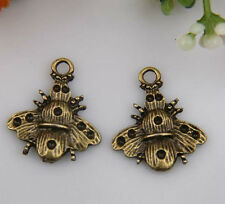 100pcs bronze plated bees charms 21x19mm 1A667