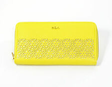 Lauren Ralph Lauren Chantilly Zip Around Wallet New With Tag Lemon Drop Yellow