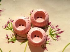 bottone resina ROSA MADE IN ITALY anni '60 vintage BUTTONS BOUTON COUTURE