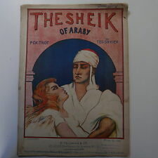 Quant le sheik of araby ted snyder, nice cover art, 1923