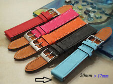 20mm /17mm Genuine Calf leather watch band bracelet strap compatible with HERMES