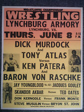 Original Mid-Atlantic Championship Wrestling Dick Murdock & Tony Atlas