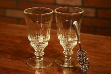 2 LA ROCHERE PONTARLIER ABSINTHE GLASSES,  PLUS WORMWOOD ABSINTHE SPOON