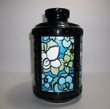 Vintage McCoy Black Pottery Cookie Jar Paneled Sides 10.75""