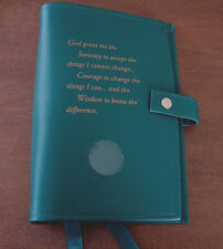 Deluxe Narcotics Anonymous NA Basic Text & How and Why Green Cover Coin Holder