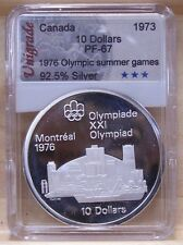 CANADA 1976 OLYMPIC $10 SILVER COIN **No 3** PROOF-67 IN SLAB HOLDER