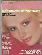 VINTAGE Glamour Magazine MARCH 1981 BITTEN COVER