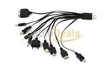 10 in 1 Universal Multi USB Cavo Caricabatteria Per Cellulare iPhone iPod PSP Nokia