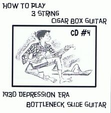 Cigar Box Guitar CD 4 - 3 string video lessons bottleneck slide blues keni lee