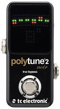 New TC Electronic Polytune 2 Mini Noir Black Guitar Pedal Tuner!