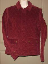 Gorgeous EDDIE BAUER Quilted Corduroy Jacket Coat - Wine Red - Women's M Medium