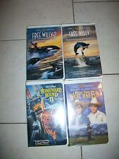 Lot of 4 Free Willy & Free Willy 2 -Homeward Bound 2 -How The West was Fun VHS