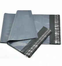 5 Grey Packaging Plastic Envelopes Bags Size A15 (400 x 500mm) Polythene Bags