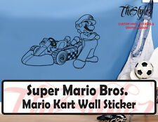 Super Mario Bros. Mario Kart Wall Custom Vinyl Sticker