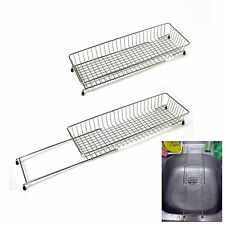 Extendable Stainless Wire Drying Rack Steel Net Sink Holder Kitchen Drainer New