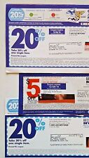 BED Bath BEYOND Coupons LOT of 3 Save 20 % OFF One SINGLE Item PLUS Save $5 DEAL