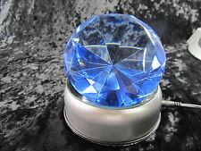 Vantage Inspired  Crystal Diamond 100mm Blue / 7 LED Display Base AC/DC