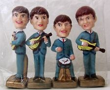 "THE BEATLES. HEAD NODDERS. BOBBLEHEADS. 1960'S. 4"" CAKE TOPPERS."