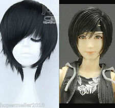New Straight Black Short Cospaly Final Fantasy Advent Children Yuffie Wig Anime
