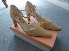 #BNIB Gorgeous Gold Satin Diamonte Wedding Shoes Mid Heel size 6.5 by Kiki