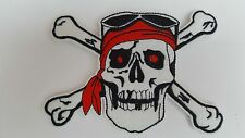 Large pirate skull and crossbones Iron on sew On patch transfer fancy dress