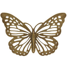 Adorable Gold Metal Butterfly In/Outdoor Wall Art Decor Sculpture
