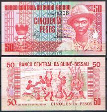 GUINEA BISSAU 50 PESOS 1990  Pick 10   SC  UNC