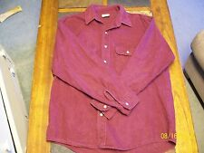 FIVE BROTHERS Mens Burgundy Flannel Full Button Long Sleeve Shirt L/Large 38-40