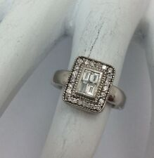 EFFY DIAMOND 14K WHITE GOLD RING SIZE 4.5