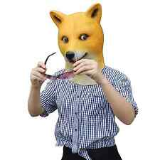 Francy Dress Party Costume Animal Head Mask Shiba Inu Dog Cosplay Masquerade
