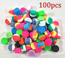 100pcs 3ml Silicone Container Jar Non-Stick Mixed colors Round Wholesale lot