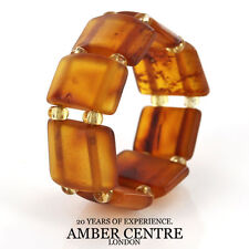 Matte Deep Orange BALTIC AMBER Elastic Ring RB015- RRP £35