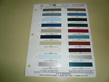 1966 Lincoln Continental Ditzler Color Chip Paint Sample