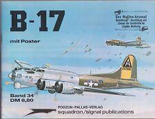 Waffen Arsenal von 1977 Band 34 B-17 mit Poster