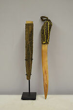 Papua New Guinea Latmul Tribe Cassowary Bone Ceremonial Payback Dagger